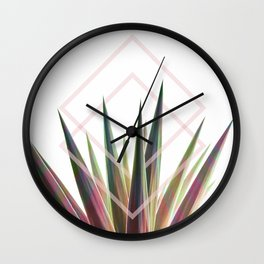 Tropical Desire - Foliage and geometry Wall Clock