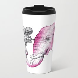 Filming Pink Elephant Metal Travel Mug