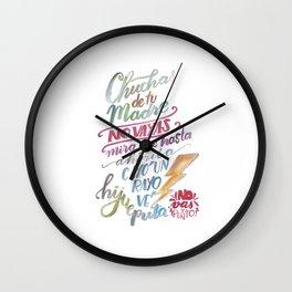 No vas y punto Wall Clock