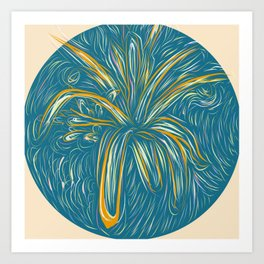 Cosmic Bromeliads Plant Art Print
