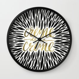 Crème de la Crème – Black & Gold Wall Clock
