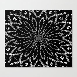 Shooting Star Black and White Kaleidoscope Canvas Print