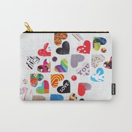 Heart Patterns Carry-All Pouch