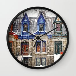 The Enchanting Winter Wall Clock