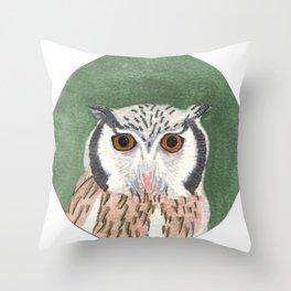 Long Eared Owl Throw Pillow