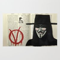 vendetta Area & Throw Rugs featuring Vendetta by Coreypopp