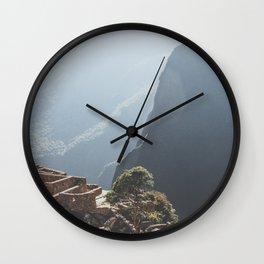 Sunrise over Machu Picchu Wall Clock