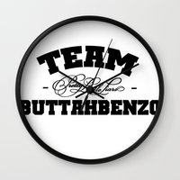 pretty little liars Wall Clocks featuring Team Buttahbenzo - Pretty Little Liars (PLL) by swiftstore