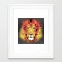 the lion king Framed Art Prints featuring lion king by Ancello