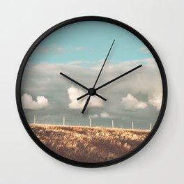 Big Sky Fence Line Wall Clock