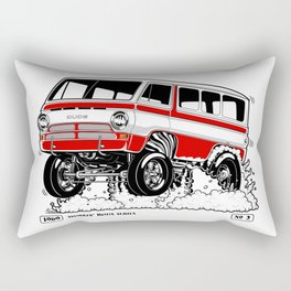 1969 GASSER VAN – Rev 2 RED Rectangular Pillow