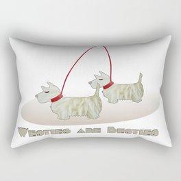 Westies are Besties 2 Rectangular Pillow