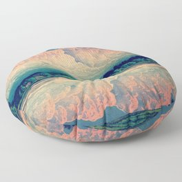 Admiring the Clouds in Kono Floor Pillow