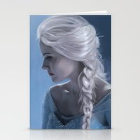 elsa Stationery Cards featuring Elsa by LindaMarieAnson
