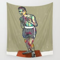 ali gulec Wall Tapestries featuring ali by blibre