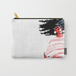 Windswept Afro Carry-All Pouch