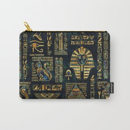 Ancient Egyptian Hieroglyph Sphinx Pyramid Carry-All Pouch