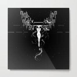 synchroniCity // (nude girl) Metal Print