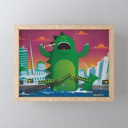 Godzilla in Dublin Framed Mini Art Print