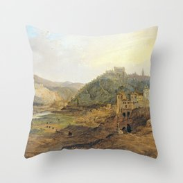 Jenaro Pérez Villaamil General View of Toledo from the Cross of the Canons Throw Pillow