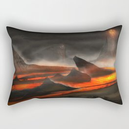 Lava Fountain | Environmental Concept Game Art Rectangular Pillow