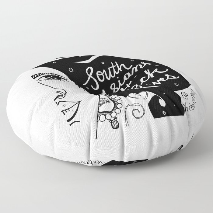 South Asians for Black Lives Floor Pillow
