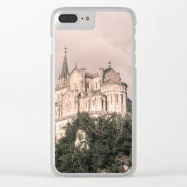 Basilica of Santa Maria la Real of Covadonga (retro) Clear iPhone Case