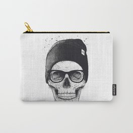 Black Skull in a hat Carry-All Pouch
