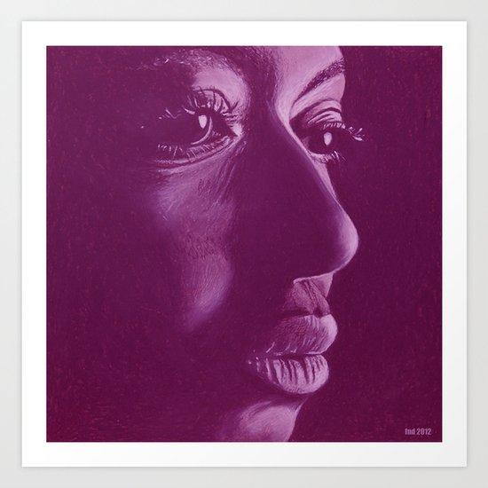 mama africa-violet Art Print