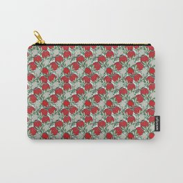 Leaves Protea (Red) Carry-All Pouch
