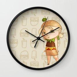 Mini Burger Wall Clock