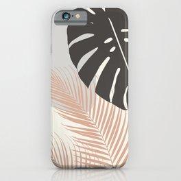 Minimal Monstera Palm Finesse #3 #tropical #decor #art #society6 iPhone Case