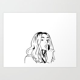 Mahalia Black and White Art Print