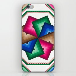 Spinning star quilt iPhone Skin