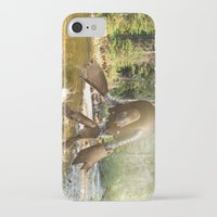 sasquatch iPhone & iPod Cases featuring Robot Sasquatch by David Slebodnick