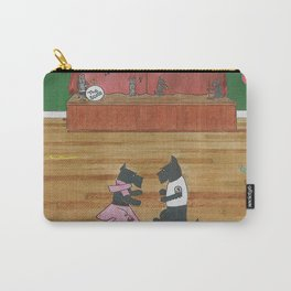 At the Hop-Scotch - Scotties - Scottish Terriers Carry-All Pouch
