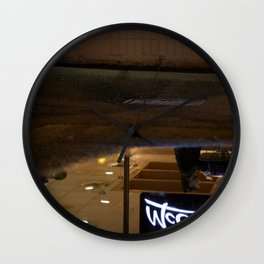 Reflection in a puddle Wall Clock