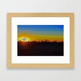 AZ Desert Sunset Framed Art Print