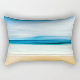 Blurred Beach Rectangular Pillow