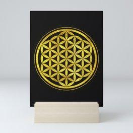Flower Of Life (Golden Sunset) Mini Art Print