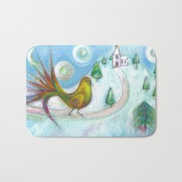 Christmas Dream Bird Bath Mat
