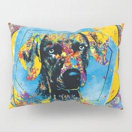 Weimaraner dog Abstract Mixed Media Pillow Sham