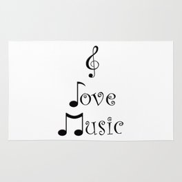 I Love Music Rug