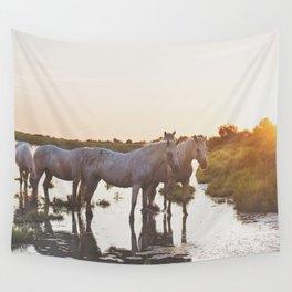 Camargue Horses VI Wall Tapestry