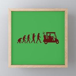 Evolution - golf Framed Mini Art Print