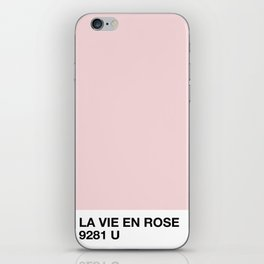 la vie en rose iPhone Skin