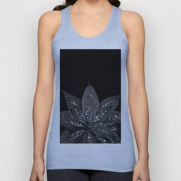 Gray Black Agave with Black Silver Glitter #2 #shiny #tropical #decor #art #society6 Unisex Tank Top