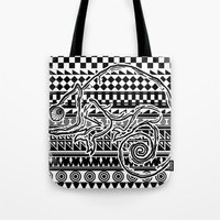 ethnic Tote Bags featuring ethnic by jun salazar