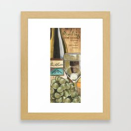 White Wine and Cheese Panel Framed Art Print