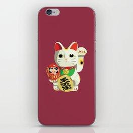 Maneki Neko - Lucky Cat iPhone Skin